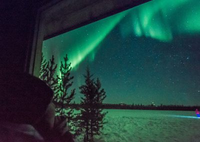 See Northern lights from inside